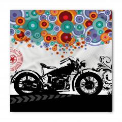 Retro Motosiklet Desenli Bandana Fular