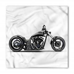 Siyah Motosiklet Desenli Bandana Fular