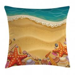 Kumsal ve Deniz Yıldızı Yastık Kırlent Kılıfı