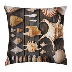 Deniz Kabuğu Desenli Yastık Kırlent Kılıfı