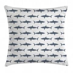Mavi Köpek Balığı Yastık Kırlent Kılıfı