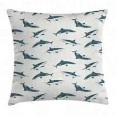 Köpek Balığı Sürüsü Yastık Kırlent Kılıfı