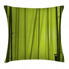 Bambu Desenli Yastık Kırlent Kılıfı