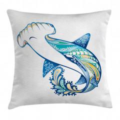 Köpek Balığı Desenli Yastık Kırlent Kılıfı