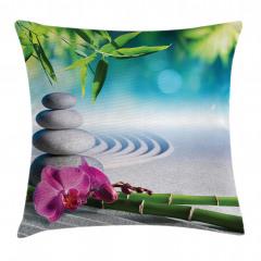 Zen Bahçesi Temalı Yastık Kırlent Kılıfı