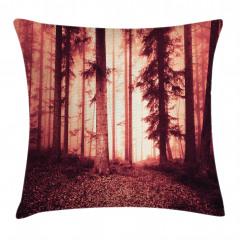 Orman Dökülmüş Yaprak Yastık Kırlent Kılıfı