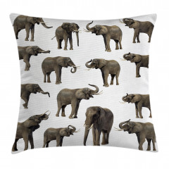 Göz Göze Filler Temalı Yastık Kırlent Kılıfı