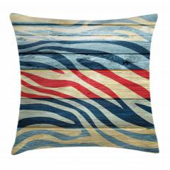 Rengarenk Zebra Desenli Yastık Kırlent Kılıfı