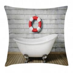 Banyo Temalı Yastık Kırlent Kılıfı