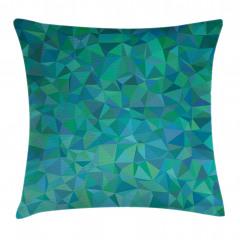 Üçgen Mozaik Desenli Yastık Kırlent Kılıfı