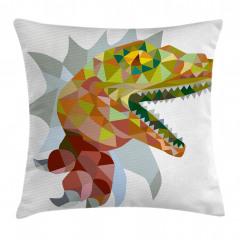Dinozor Desenli Yastık Kırlent Kılıfı
