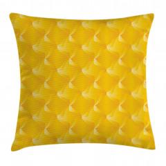 Sarı Dekoratif Desenli Yastık Kırlent Kılıfı