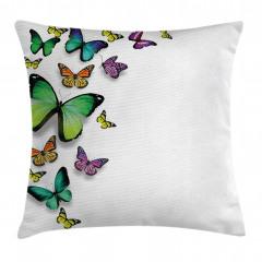 Uçan Kelebekler Yastık Kırlent Kılıfı