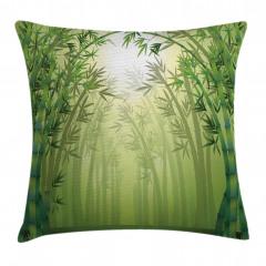 Bambu Ormanı Desenli Yastık Kırlent Kılıfı