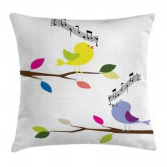 Şarkı Söyleyen Kuş Yastık Kırlent Kılıfı