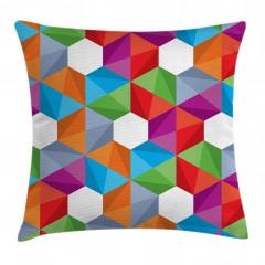 Geometrik Desenli Yastık Kırlent Kılıfı