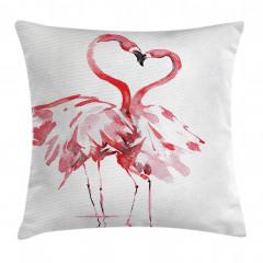 Flamingoların Aşkı Yastık Kırlent Kılıfı