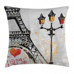 Paris Işıkları Yastık Kırlent Kılıfı