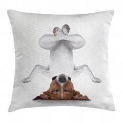 Meditasyon Yapan Köpek Yastık Kırlent Kılıfı