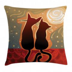 Aşık Kedi Yastık Kırlent Kılıfı