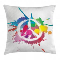 Rengarenk Barış Temalı Yastık Kırlent Kılıfı