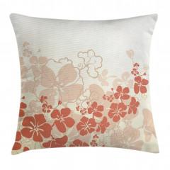 Tropik Çiçek Desenli Yastık Kırlent Kılıfı