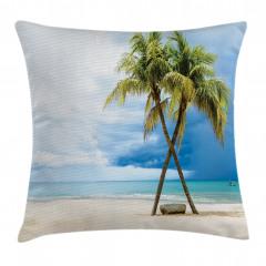 Tropik Kumsal Yastık Kırlent Kılıfı