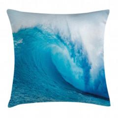 Okyanus Dalgaları Yastık Kırlent Kılıfı
