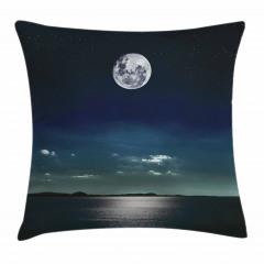 Ay Işığında Deniz Yastık Kırlent Kılıfı