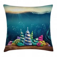 Rengarenk Deniz Kabuğu Yastık Kırlent Kılıfı