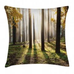Güneşli Orman Yastık Kırlent Kılıfı