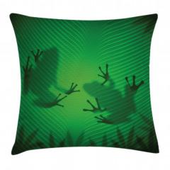 Kurbağa ve Yaprak Yastık Kırlent Kılıfı