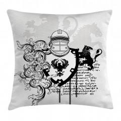 Antik Şövalye Desenli Yastık Kırlent Kılıfı