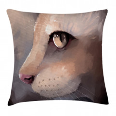 Kedi Portresi Yastık Kırlent Kılıfı