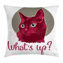 Sevimli Kedi Portresi Yastık Kırlent Kılıfı