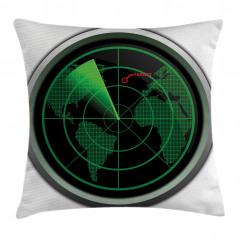 Uçak Radarı Yastık Kırlent Kılıfı