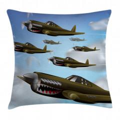 Savaş Uçakları Yastık Kırlent Kılıfı