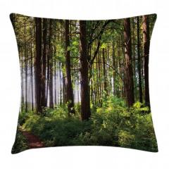 Yemyeşil Orman Yastık Kırlent Kılıfı