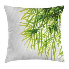 Bambu Yaprağı Desenli Yastık Kırlent Kılıfı