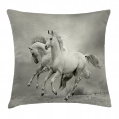 Özgür Atlar Yastık Kırlent Kılıfı