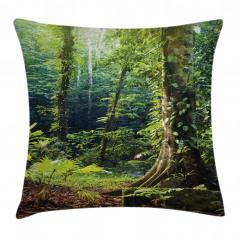 Orman Manzaralı Yastık Kırlent Kılıfı