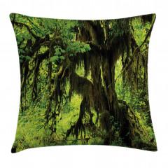 Yağmur Ormanı Temalı Yastık Kırlent Kılıfı