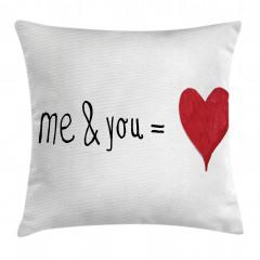 Aşk Desenli Yastık Kırlent Kılıfı