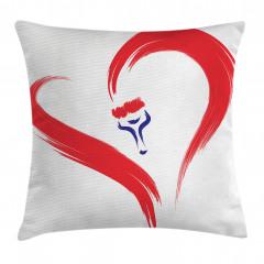 Romantik Aşk Desenli Yastık Kırlent Kılıfı