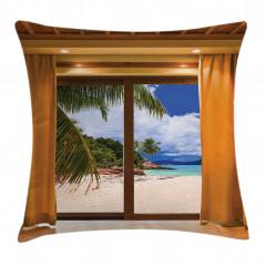 Pencere Desenli Yastık Kırlent Kılıfı