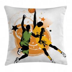 Basketbolcu Desenli Yastık Kırlent Kılıfı
