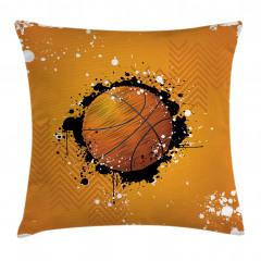 Basketbol Topu Desenli Yastık Kırlent Kılıfı