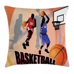 Basketbol Maçı Yastık Kırlent Kılıfı