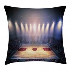 Basketbol Işığı Yastık Kırlent Kılıfı