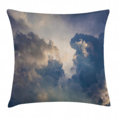 Gökyüzü ve Bulut Temalı Yastık Kırlent Kılıfı